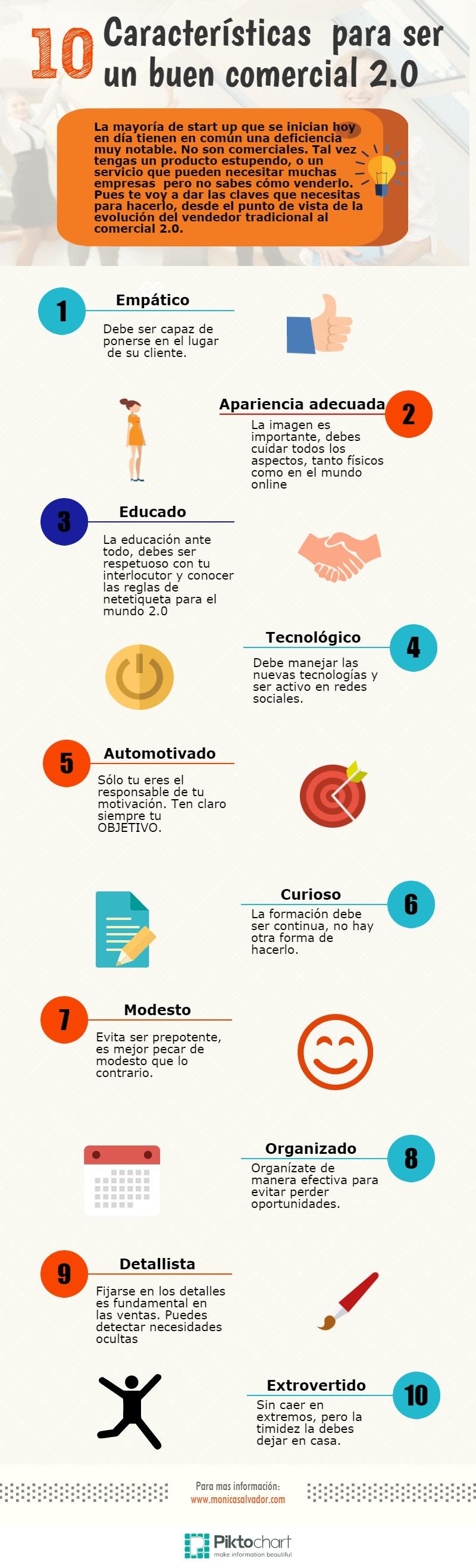 10 características comercial